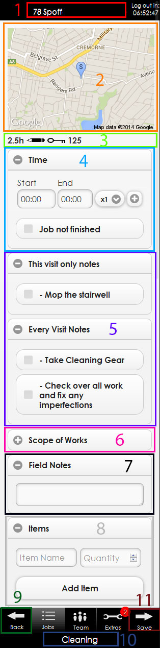 MoWApp Job Details